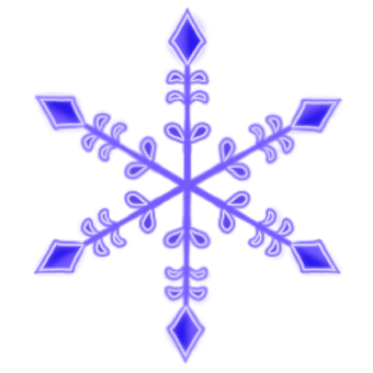 Crystal of snow