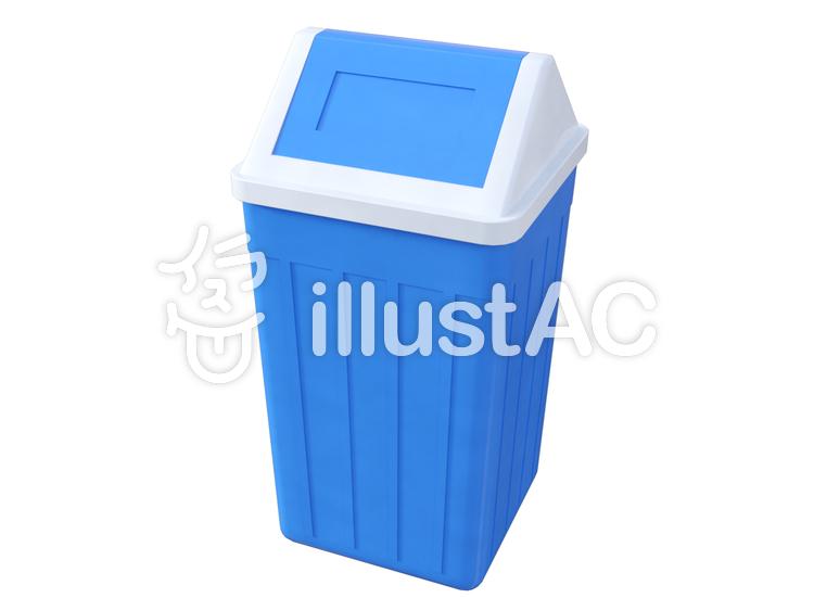 ゴミ箱(屋根型スイング蓋)のイラスト