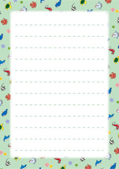 Cute sea creature notepaper 04