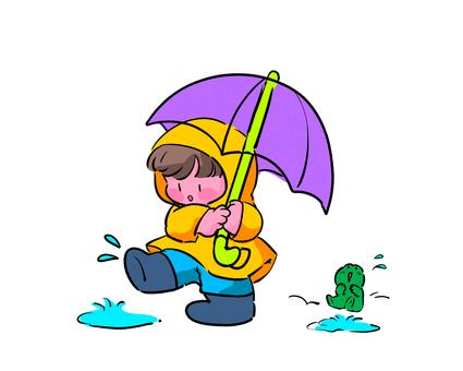 Rainy season boy