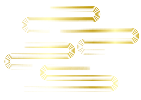 And _ wave line _ gold