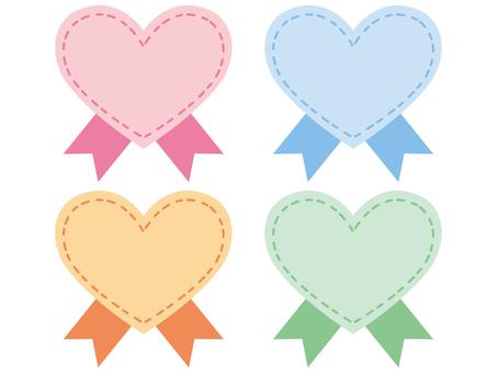Heart ribbon 2