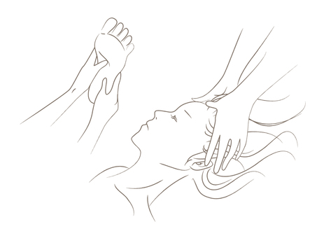 Massage illustration drawing