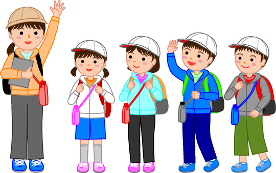 Elementary school students' excursion