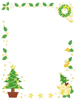 Christmas vertical frame _ yellow