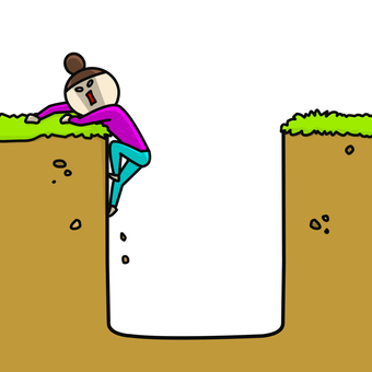 Woman rising from the hole