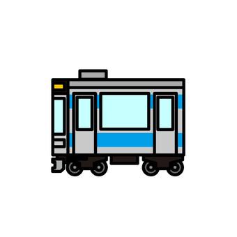 Illustration of a train (ordinary vehicle)