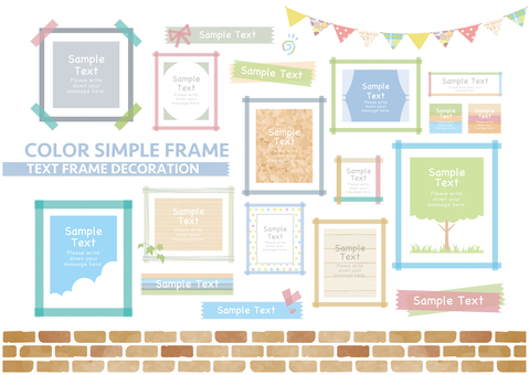 Simple color frame set