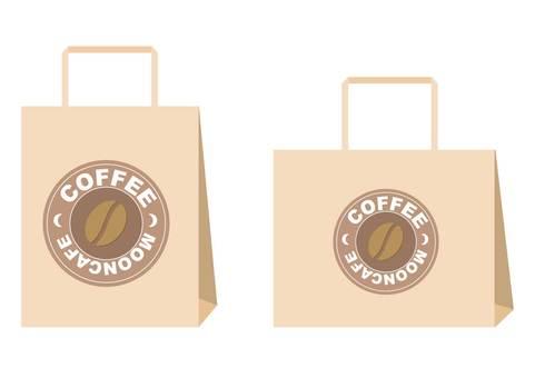 커피 숍 종이 백
