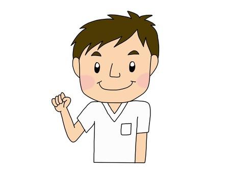 Male nurse white