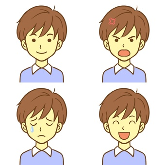 4 types of male expressions