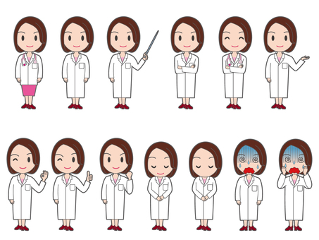 Female doctor whole body summary