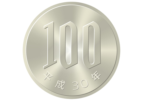Real touch money [100 yen coin (table)]