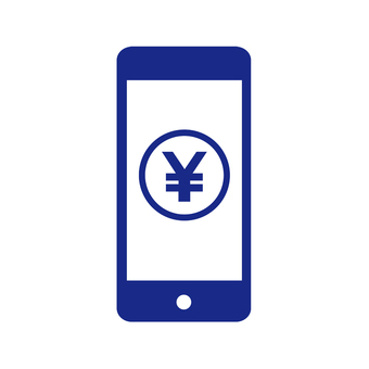 Smartphone and yen sign