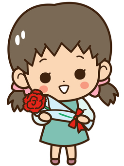 Girls with carnations