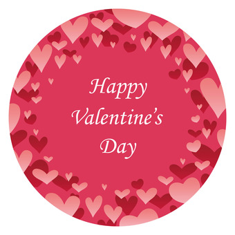 Valentine's Day background circle