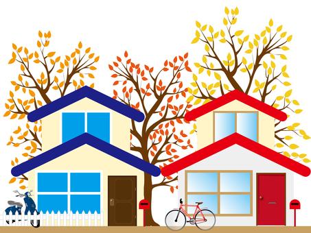 Autumn estate 01 background transparent