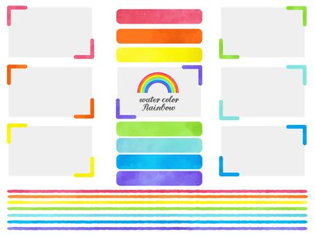 Rainbow color set 1
