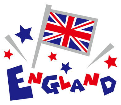 ENGLAND ☆ UK ☆ National flags logo