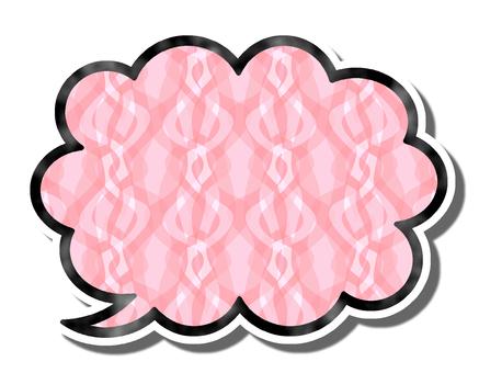 Speech balloon pattern