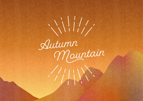 Autumn mountain sunset