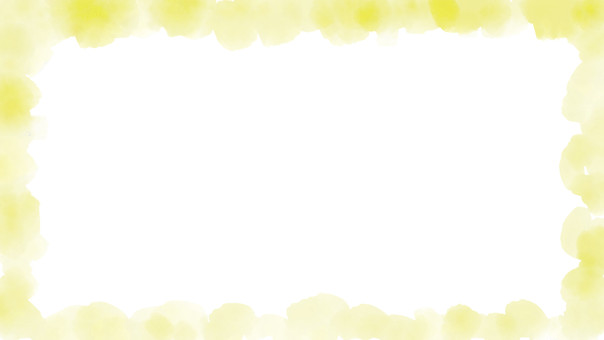 Watercolor frame yellow