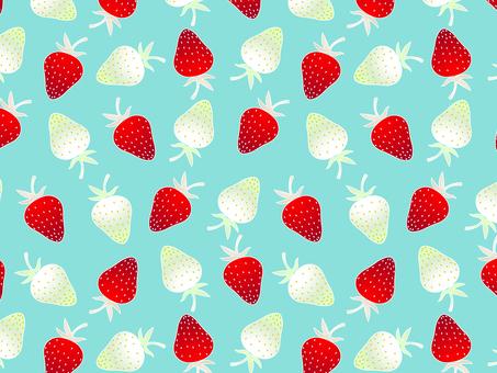 ai 딸기 패턴 견본