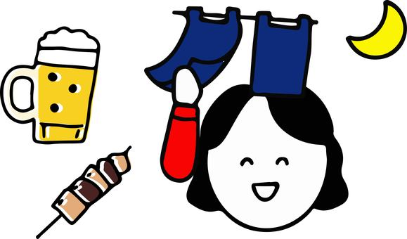 Beer and Yakitori