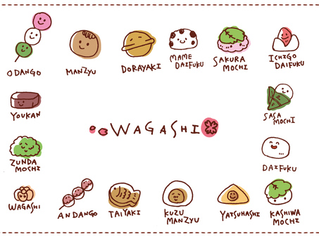 【Sweets】 Japanese sweets 【handwriting】