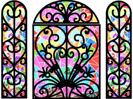 Design stained glass door 2