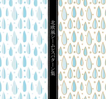 Scandinavian style pattern 雫 02 / blue