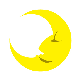 Profile of crescent moon