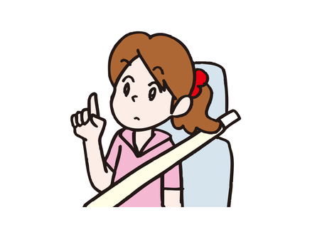 Girl with seat belt