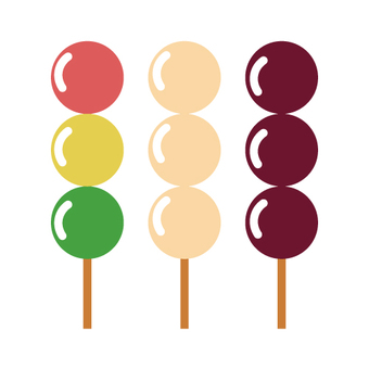 Japanese sweets (dango)
