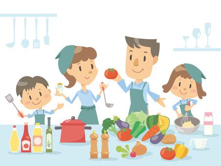 家族_キッチン