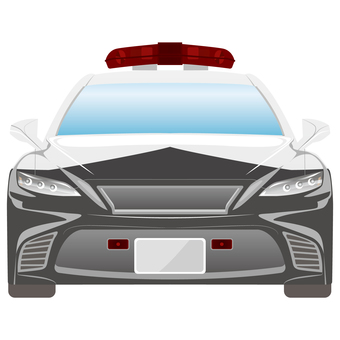 Police car front view 6