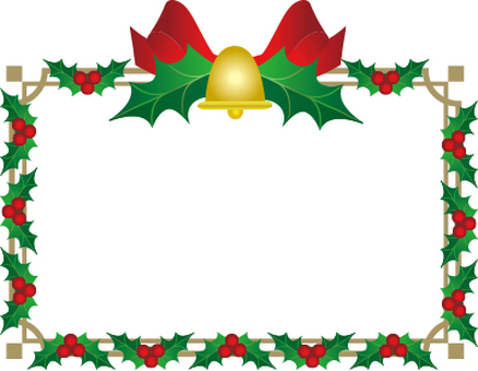 Christmas frame white background