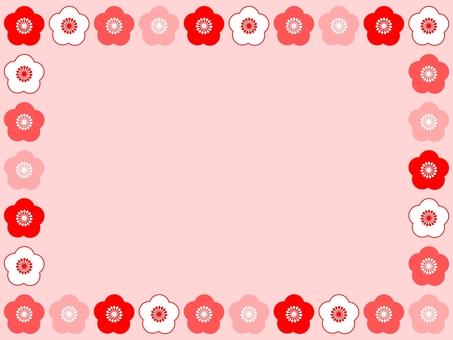 梅花粉紅色框架