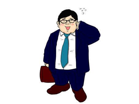 Chubby business man