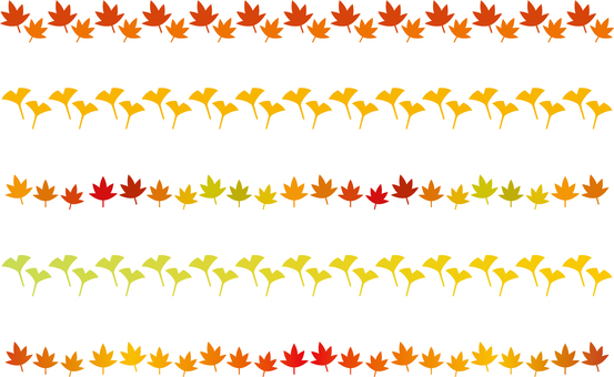 Autumn Leaves Line Set