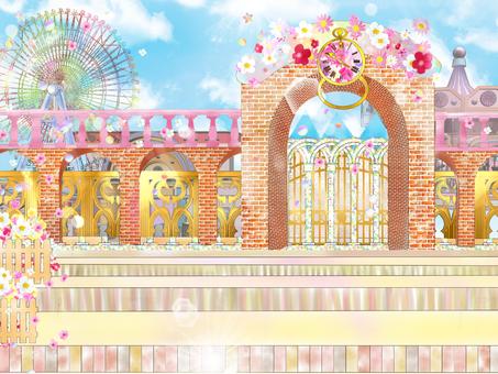 Amusement park gate