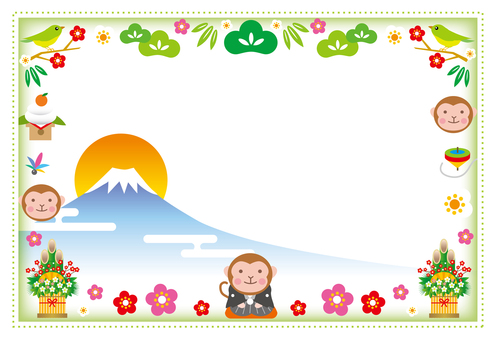 New spring frame with Mt. Fuji visible