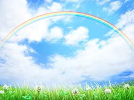 Grass White Altus Grass Blue Sky background · Wallpaper Frame 3