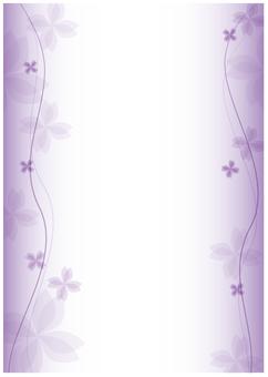 Purple _ flower frame _ freshly