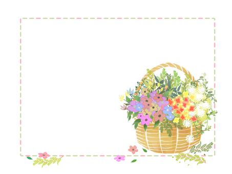Flower basket frame
