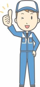 Mechanic male a - goo - whole body