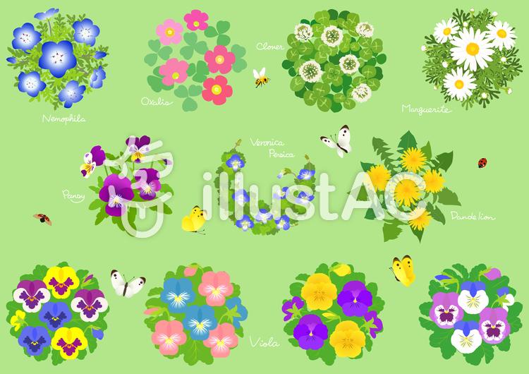 春の花素材1のイラスト