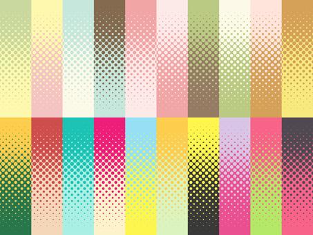 パターン-ドットグラデーション2