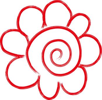 花圈图标手写的自由手图