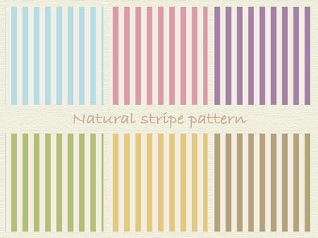 Natural stripe pattern material set